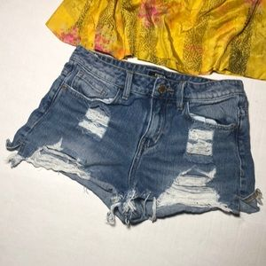 8th of LA Denim Distressed Shorts S